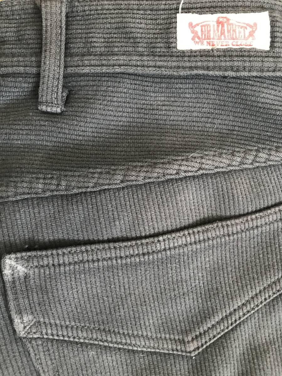 ※ HOLLYWOOD RANCH MARKET ハリウッドランチマーケット BLUE BLUE ブルーブルー 聖林公司 ピケ 綿×毛パンツ グレー 日本製 30 BJBJ.D_画像9