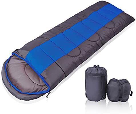 寝袋 シュラフ 封筒型 軽量 コンパクト収納 アウトドア 登山 車中泊 防災用