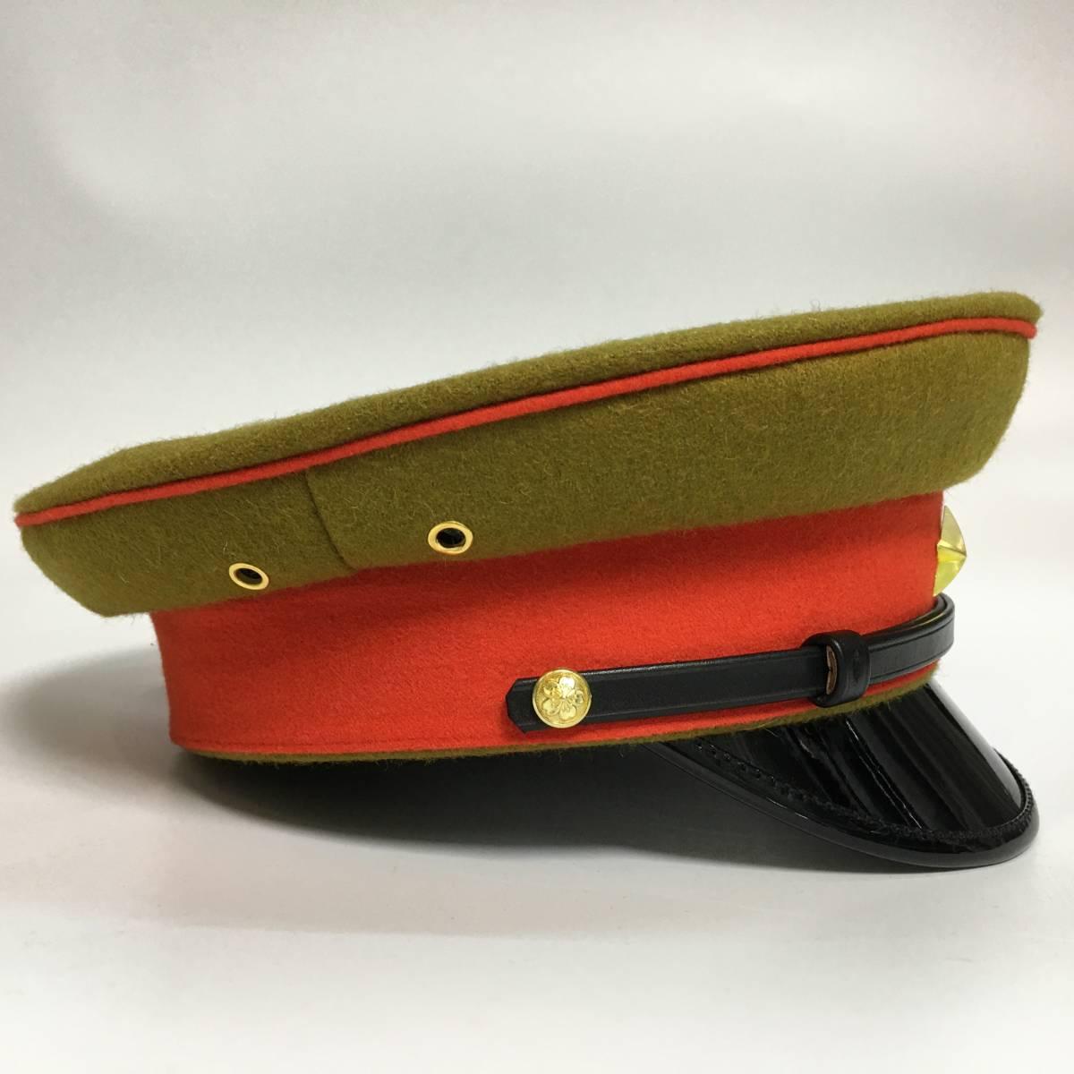 旧日本軍 陸軍将校用制帽 四五式軍帽 ウール製 57cm、58cm、59cm、60cm、61cm レプリカ_画像3