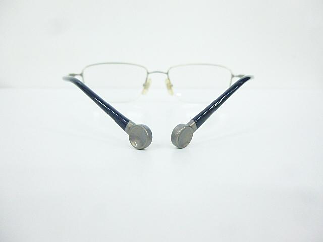 △【在庫処分/未使用】Dr.VIEW ドクタービュー 眼鏡 メガネフレーム (定価\37,000) DV121 メタル チタン シルバー グレー アイウェア □G8_画像9