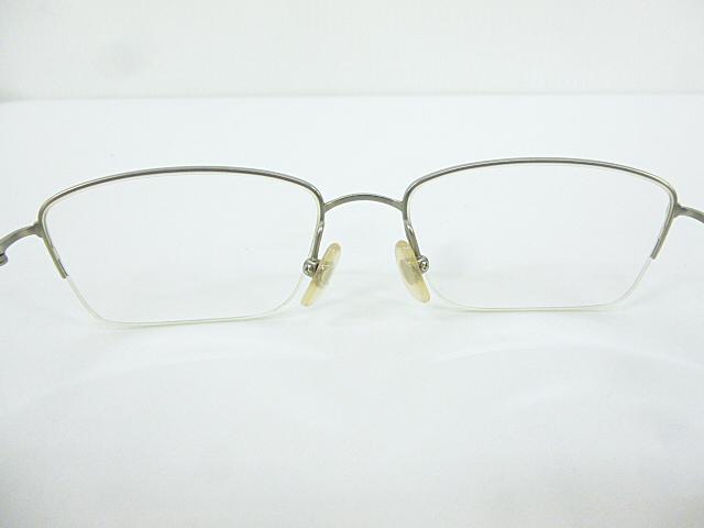 △【在庫処分/未使用】Dr.VIEW ドクタービュー 眼鏡 メガネフレーム (定価\37,000) DV121 メタル チタン シルバー グレー アイウェア □G8_画像3