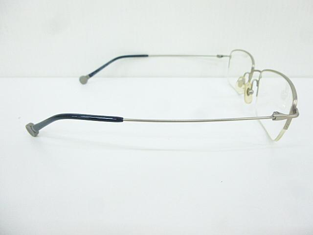 △【在庫処分/未使用】Dr.VIEW ドクタービュー 眼鏡 メガネフレーム (定価\37,000) DV121 メタル チタン シルバー グレー アイウェア □G8_画像6
