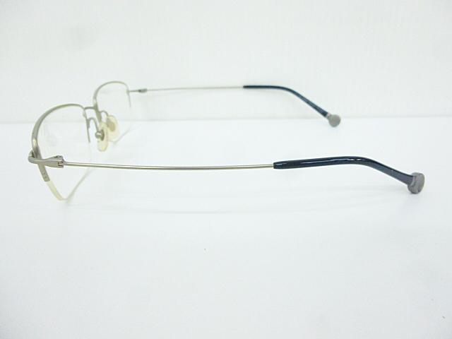 △【在庫処分/未使用】Dr.VIEW ドクタービュー 眼鏡 メガネフレーム (定価\37,000) DV121 メタル チタン シルバー グレー アイウェア □G8_画像5