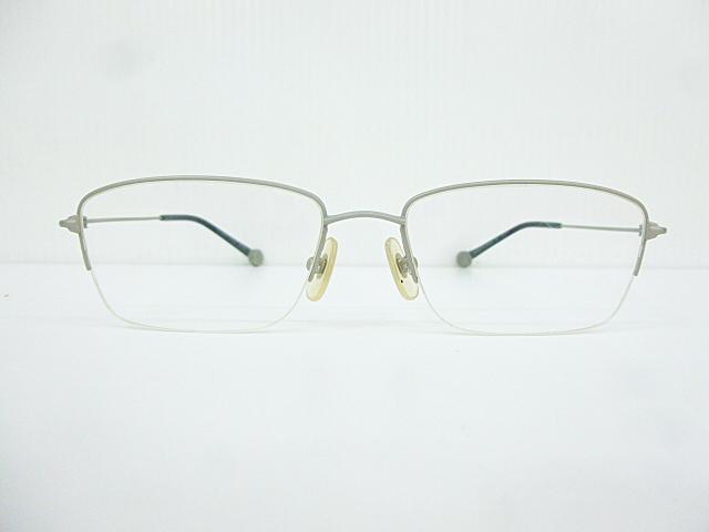 △【在庫処分/未使用】Dr.VIEW ドクタービュー 眼鏡 メガネフレーム (定価\37,000) DV121 メタル チタン シルバー グレー アイウェア □G8_画像1