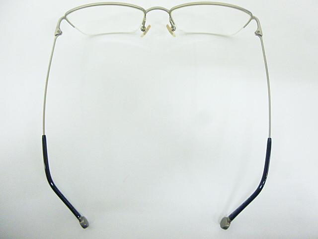 △【在庫処分/未使用】Dr.VIEW ドクタービュー 眼鏡 メガネフレーム (定価\37,000) DV121 メタル チタン シルバー グレー アイウェア □G8_画像4