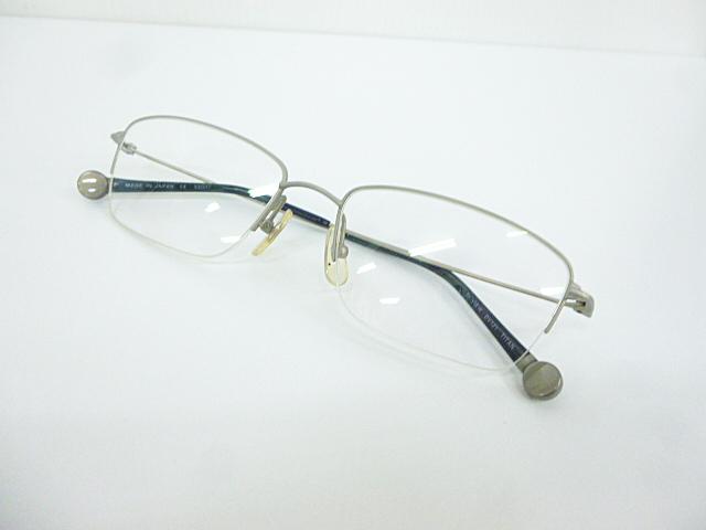 △【在庫処分/未使用】Dr.VIEW ドクタービュー 眼鏡 メガネフレーム (定価\37,000) DV121 メタル チタン シルバー グレー アイウェア □G8_画像2