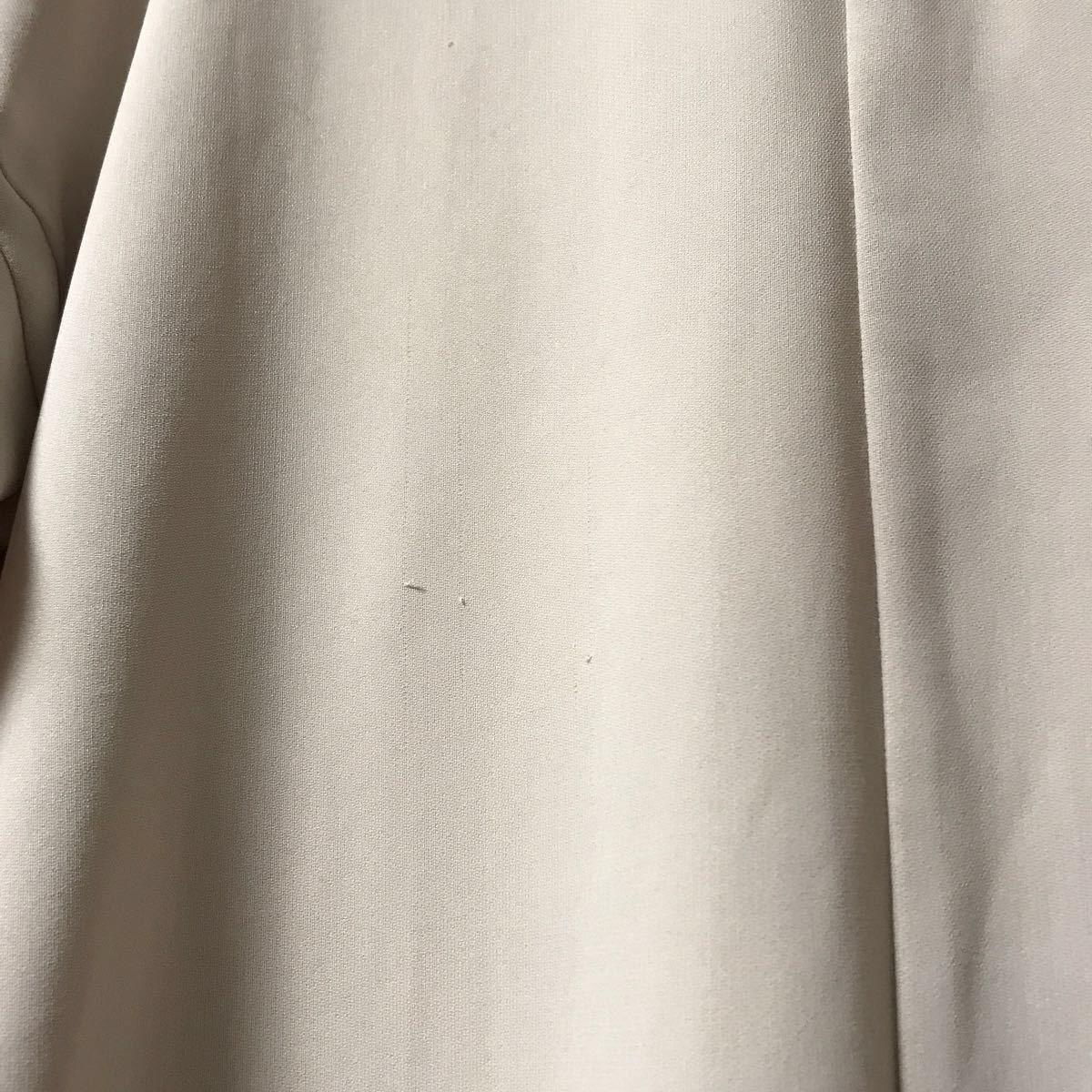 シャツワンピース ナノユニバース ベージュ ロングシャツブラウス シフォン