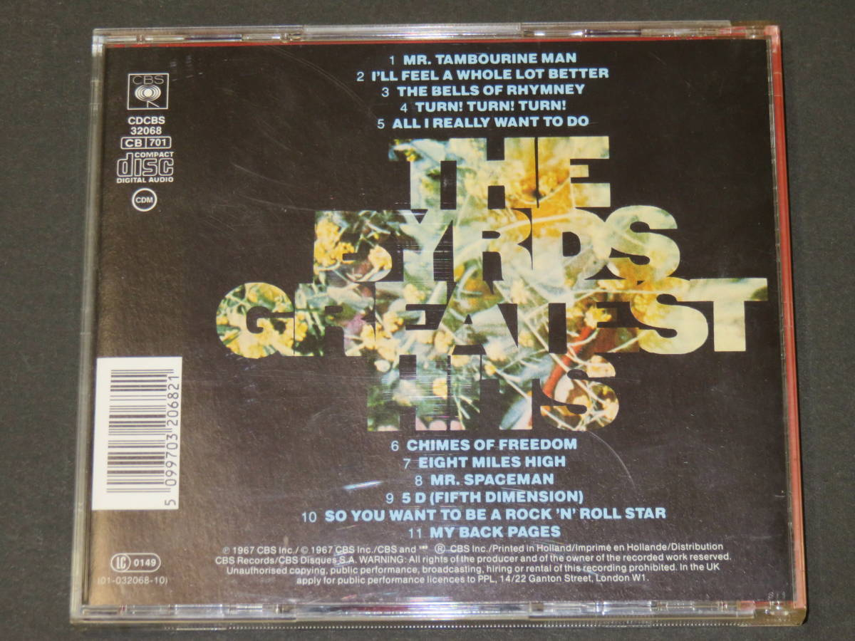 ◆The Byrds◆ Greatest Hits CD バーズ ベスト 輸入盤