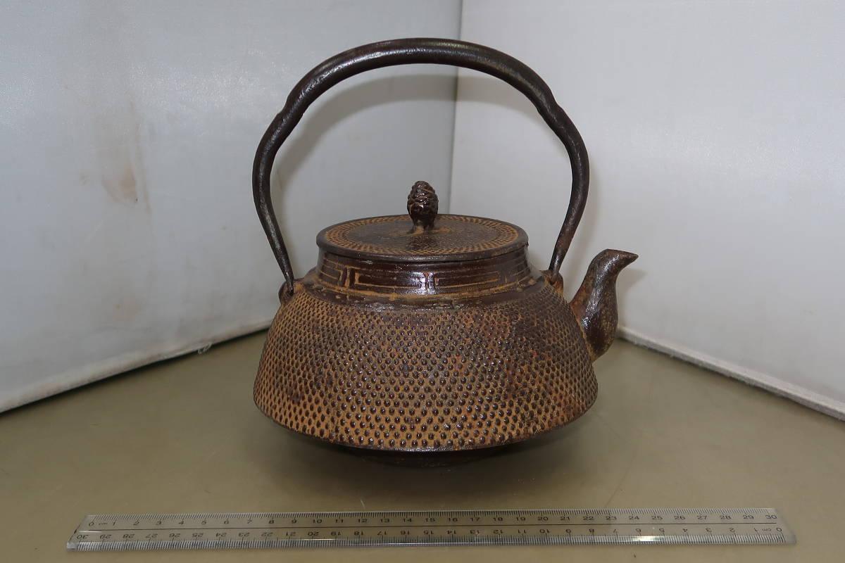 ●○南部 渓泉造 鉄瓶 茶道具 茶器○●_画像1