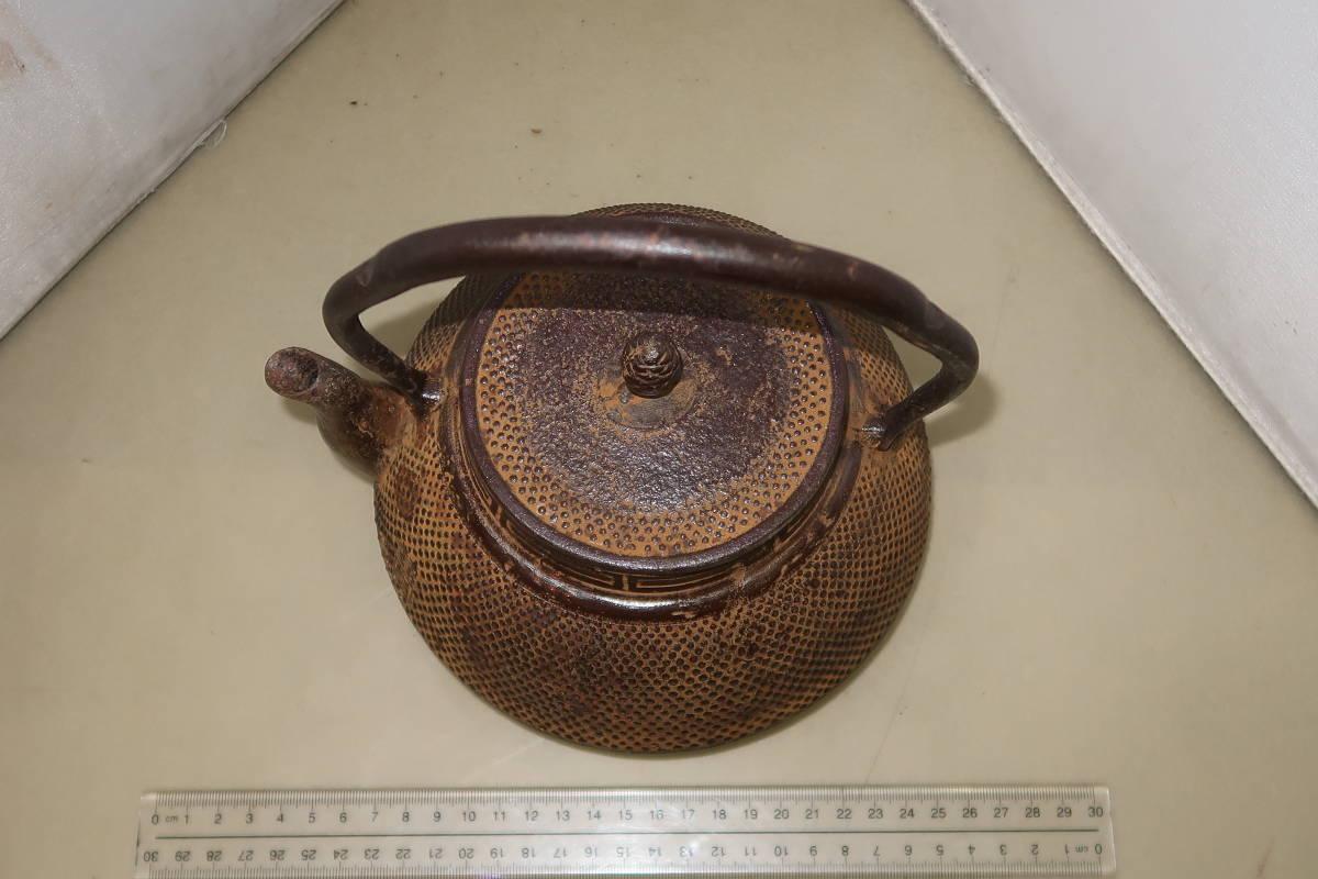 ●○南部 渓泉造 鉄瓶 茶道具 茶器○●_画像3