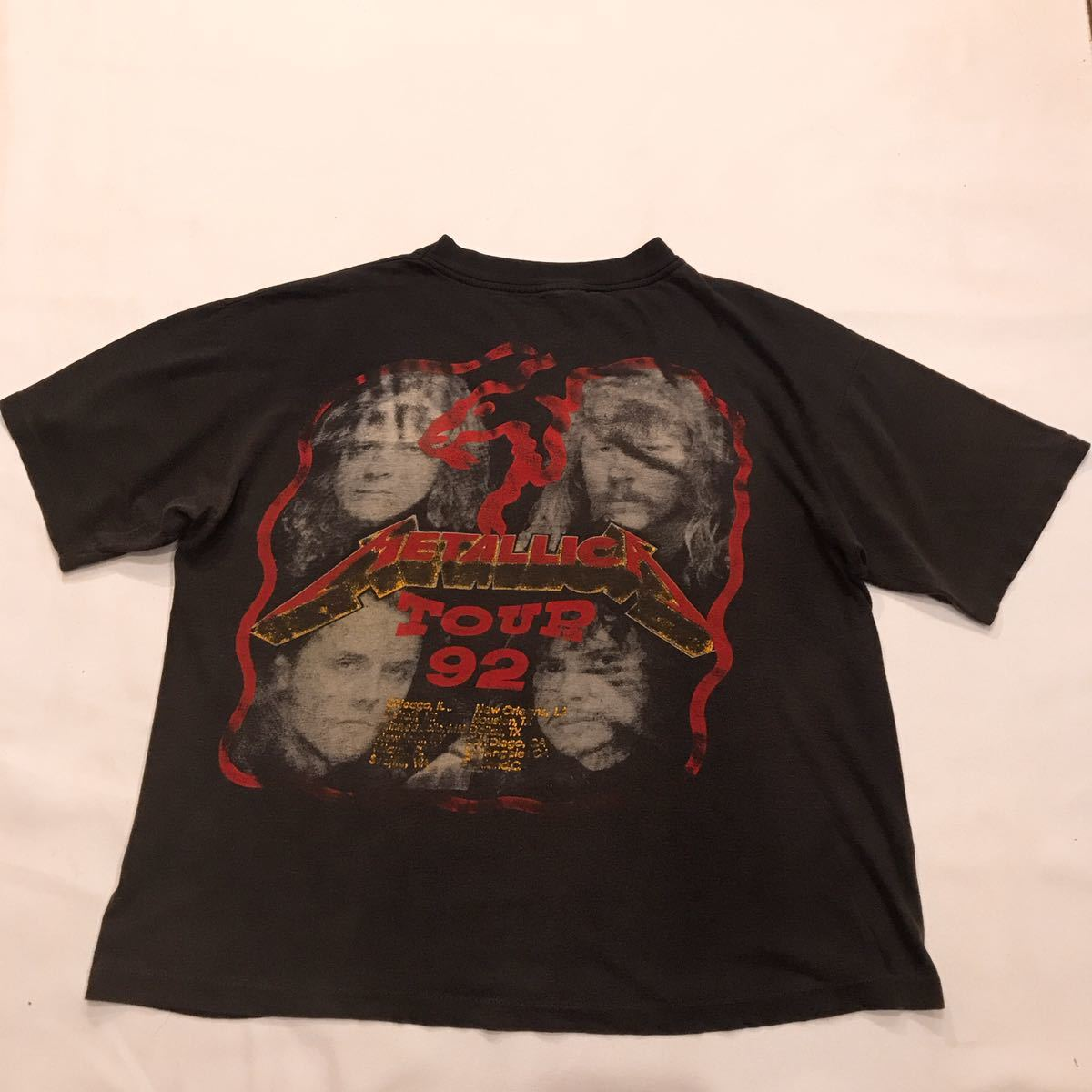 90s 90年代 GUNS N ROSES METALLICA ガンズアンドローゼズ メタリカ バンドT ロックT ツアーT VINTAGE ビンテージ 1992 Stadium Tour XL_画像5