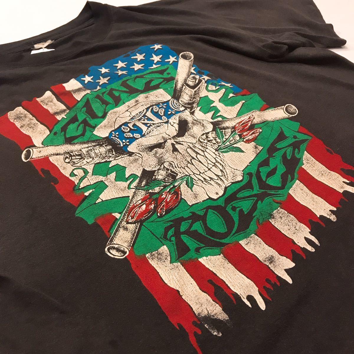 90s 90年代 GUNS N ROSES METALLICA ガンズアンドローゼズ メタリカ バンドT ロックT ツアーT VINTAGE ビンテージ 1992 Stadium Tour XL_画像2
