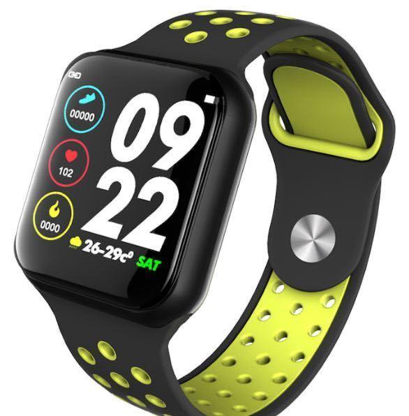 【VR07】新型 アップルウォッチ型 防水 心拍 血圧計 パルスオキシメーター付 黒 スマートウォッチ GARMIN Fitbit Apple Watch タイプ