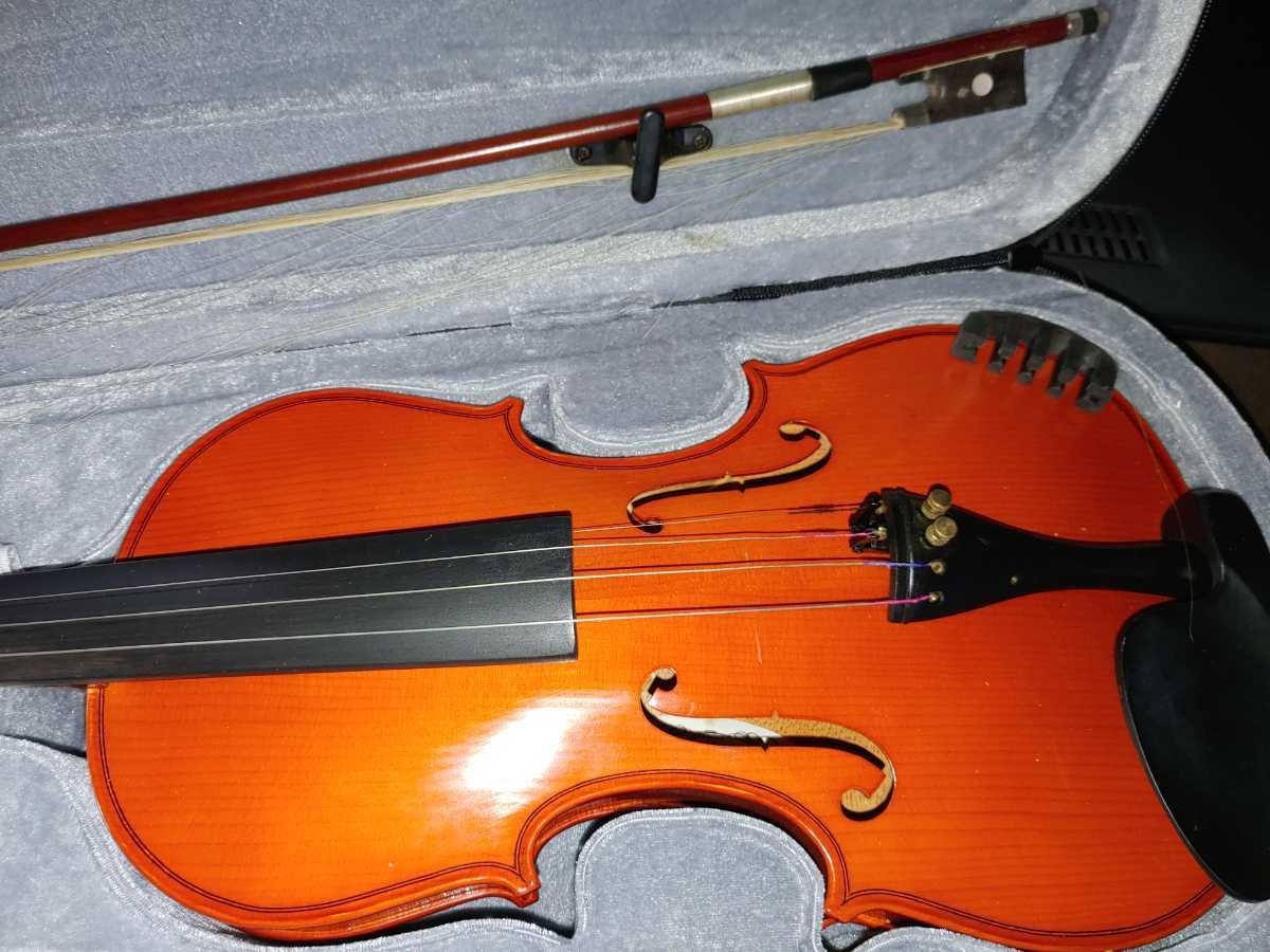 バイオリン 本体セット 弦 ハードケース 弓 キョーリツコーポレーション_画像4