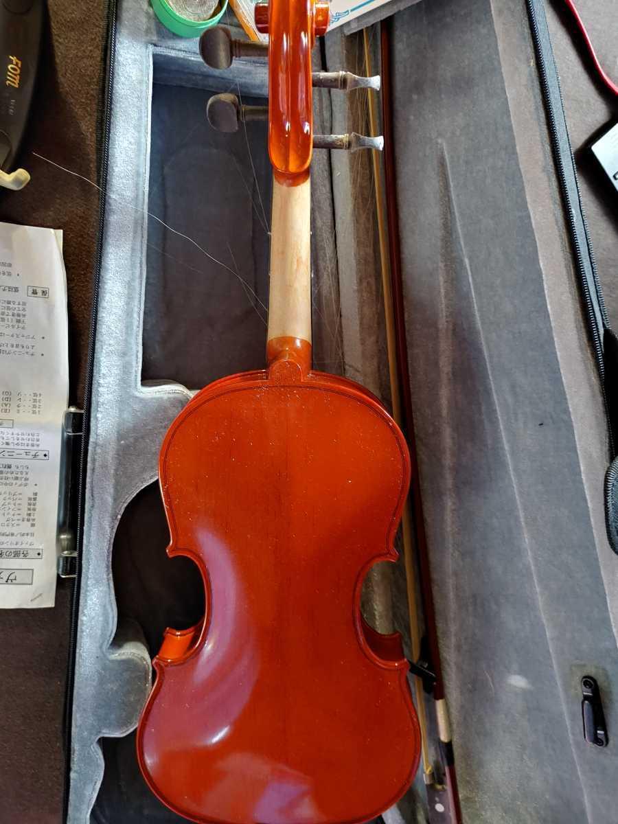 バイオリン 本体セット 弦 ハードケース 弓 キョーリツコーポレーション_画像5