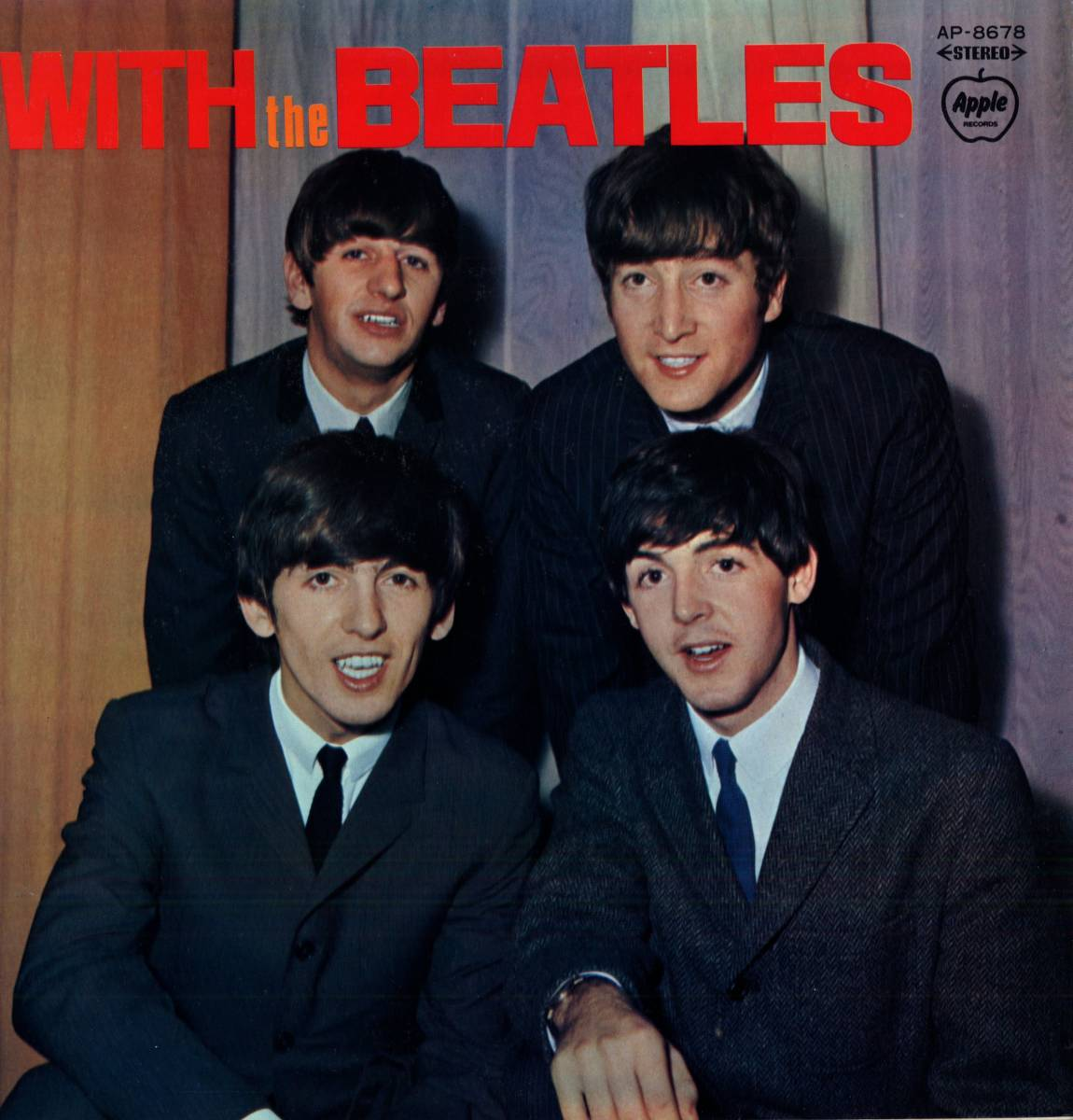 Beatles 「With The Beatles」国内盤アップルレーベル ダブルジャケット盤LPレコード  (AP-8678)_画像1