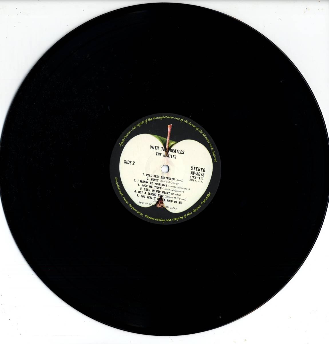 Beatles 「With The Beatles」国内盤アップルレーベル ダブルジャケット盤LPレコード  (AP-8678)_画像9