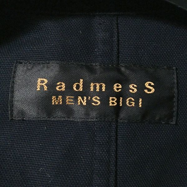 #MEN'S BIGI メンズビギ ナイロン混ダック生地カバーオールジャケット ブラックカラー sizeM