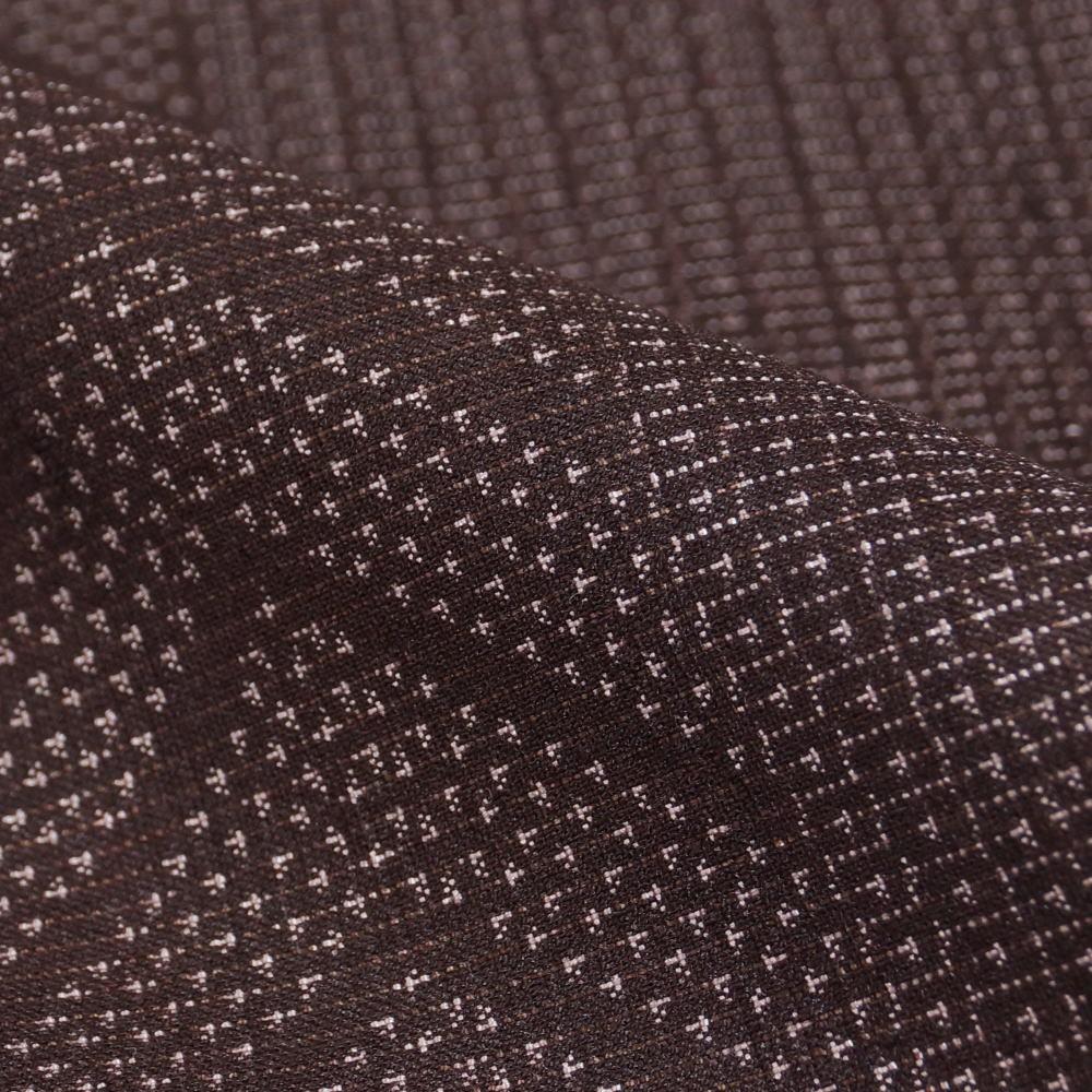 紬 横段に幾何学模様 着物リメイク・リフォーム用 素材用 正絹 着物 紬 着付け練習用 中古 リサイクル着物 リサイクル紬 きもの天陽_画像4
