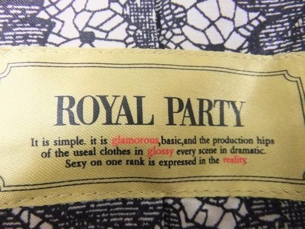 ROYAL PARTY ロイヤルパーティー サイズ38 レディース テーラードジャケット 長袖 1つボタン 裏地に柄アリ グレー系 灰色_画像2