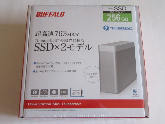 ★新品★BUFFALO★RAID 0、Thunderbolt対応 外付SSD★SSD-WA256T