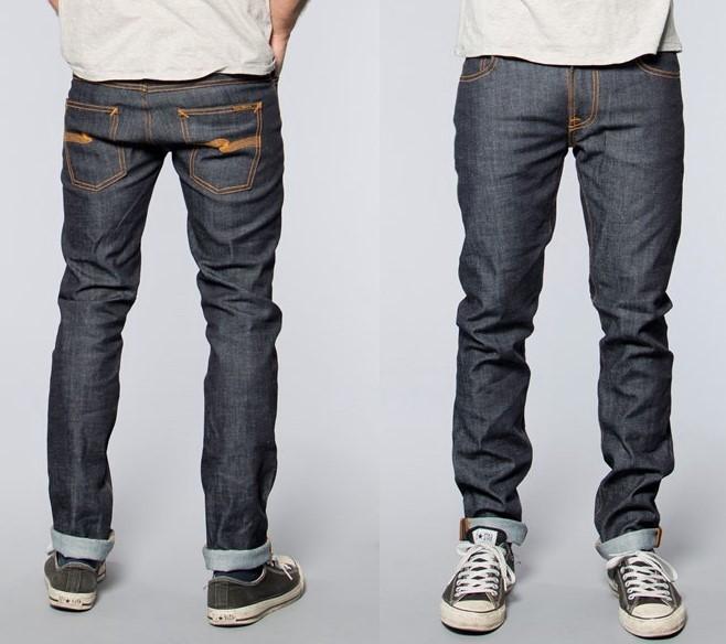 Nudie Jeans Thin Finn Org.Dry Twill / ヌーディージーンズ シン・フィン ドライツイル W28 L32 極美品