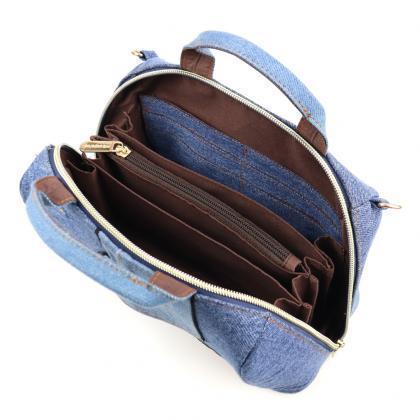 新品送料無料mis zapatos(ミスサパト)デニムスカート2wayショルダー&お財布ポシェット ブルー_画像5