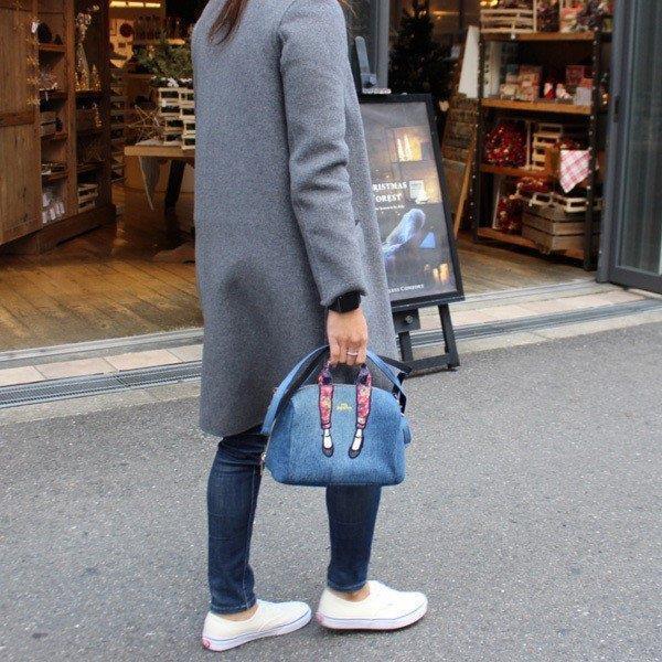 新品送料無料mis zapatos(ミスサパト)デニムパンプス2wayショルダー&お財布ポシェット ブルー_画像6