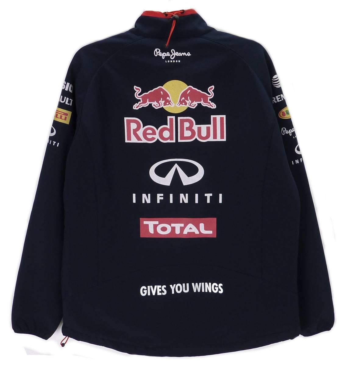 ペペジーンズ Pepe Jeans レッドブル Red bull Racing レーシング OTL2014 刺繍 ジャケット ネイビー(XXL) [並行輸入品]_画像2