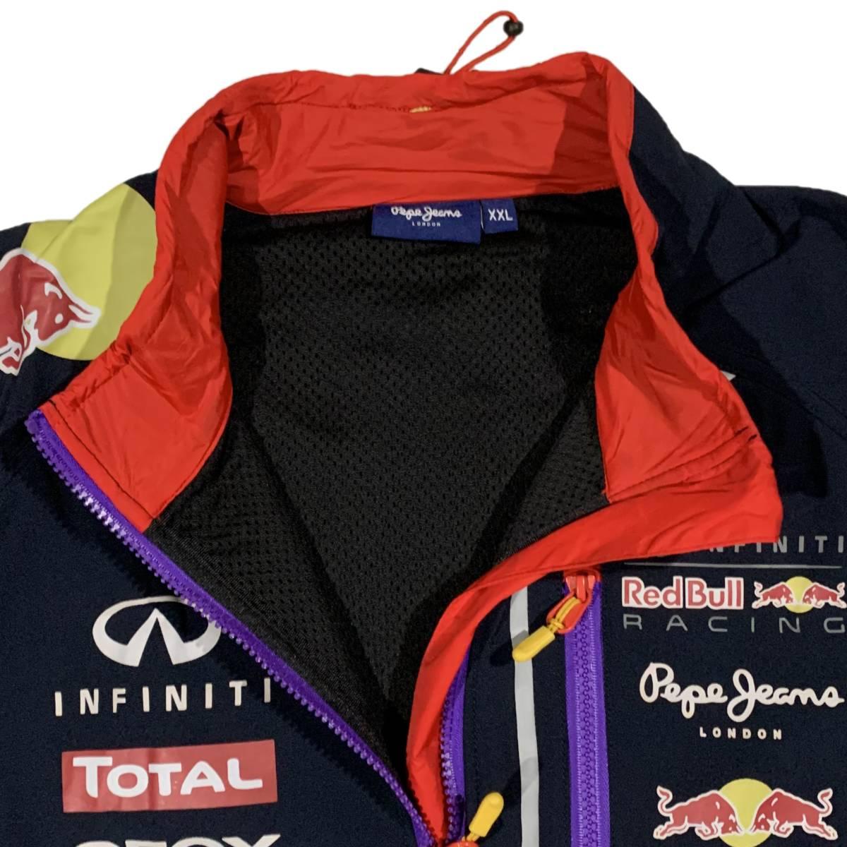 ペペジーンズ Pepe Jeans レッドブル Red bull Racing レーシング OTL2014 刺繍 ジャケット ネイビー(XXL) [並行輸入品]_画像3