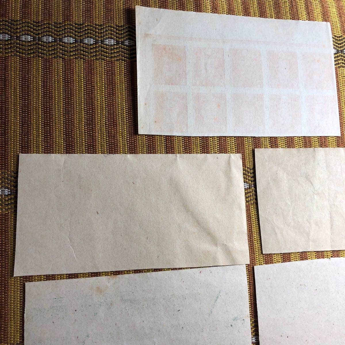 カタログ価7300円 昭和20年、21年発行 第3次昭和切手7種×10枚ブロック