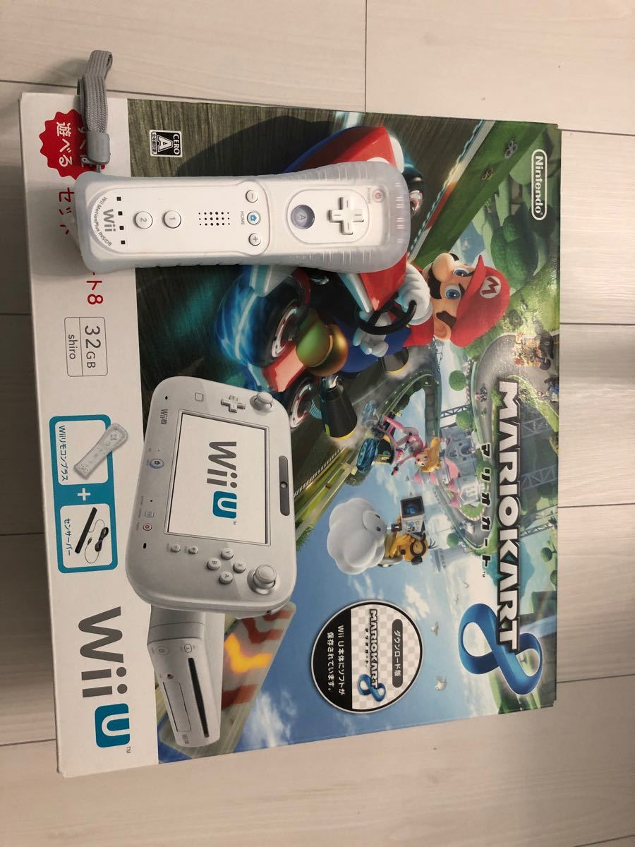 Wii U すぐに遊べる マリオカート8 セット シロ