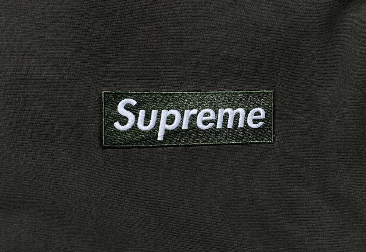 supreme box logo crewneck brown olive  シュプリーム  ボックスロゴ プルオーバー パーカー XL_画像3