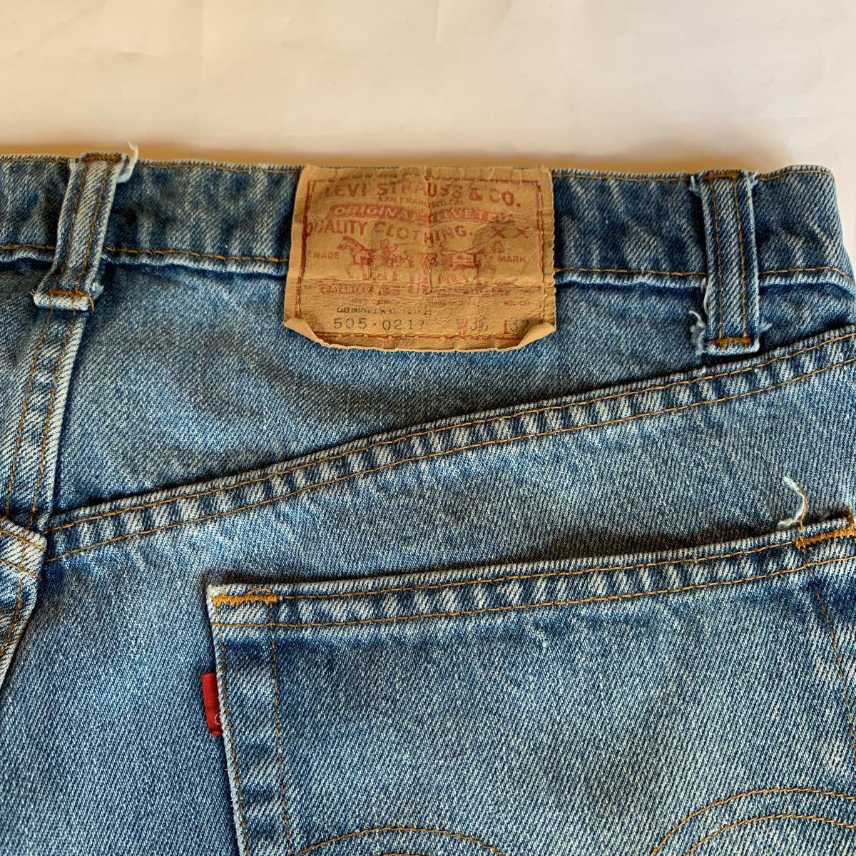 80s Levi's 505 DENIM PANTS MADE IN USA ヴィンテージ ビンテージ リーバイス 505-0217 デニムパンツ アメリカ製 チェーンステッチ 70s_画像3