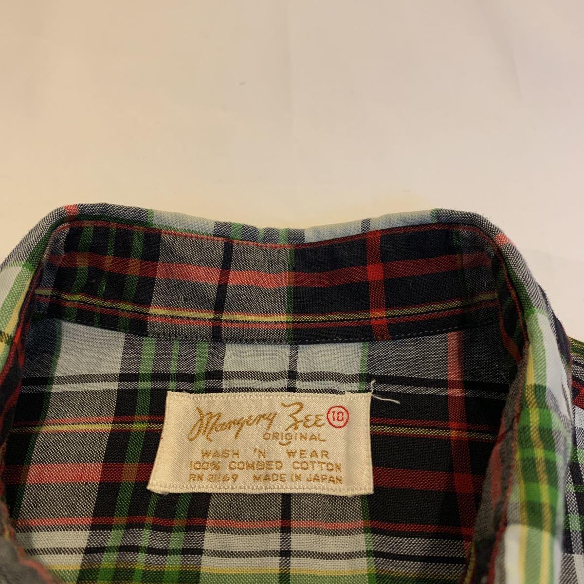 60s Maryery Zee MADRAS CHECK DRESS DEAD STOCK NOS ヴィンテージ ビンテージ マドラスチェック チェックワンピース デッドストック 50s_画像3