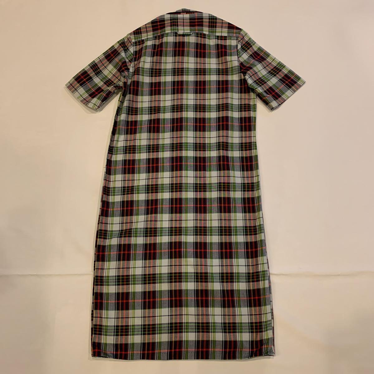 60s Maryery Zee MADRAS CHECK DRESS DEAD STOCK NOS ヴィンテージ ビンテージ マドラスチェック チェックワンピース デッドストック 50s_画像2