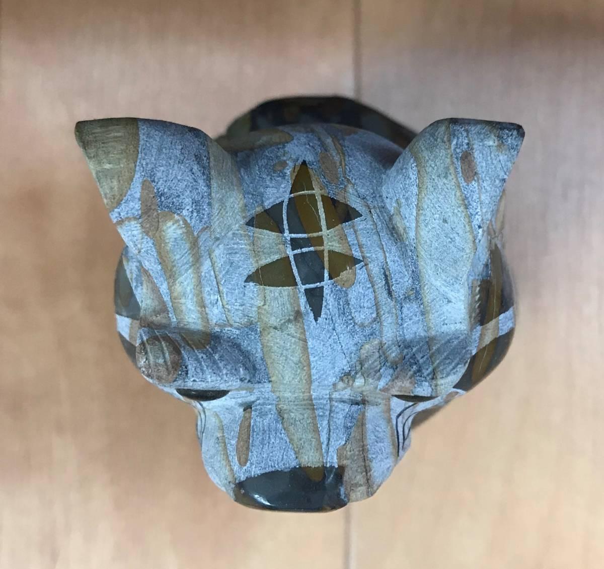 マーブル石 トラの置物 オブジェ カッコイイ 父の日 かっこいい スーツ とら 虎 寅 リビング 玄関 書斎 インテリア 大理石 _画像3