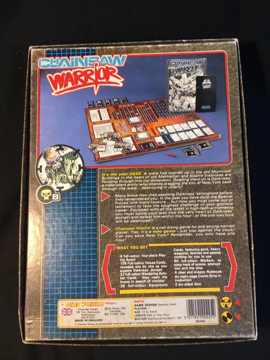 【中古開封済】TRPGボードゲーム●GAMES WORKSHOP●CHAINSAW WARRIOR_画像2