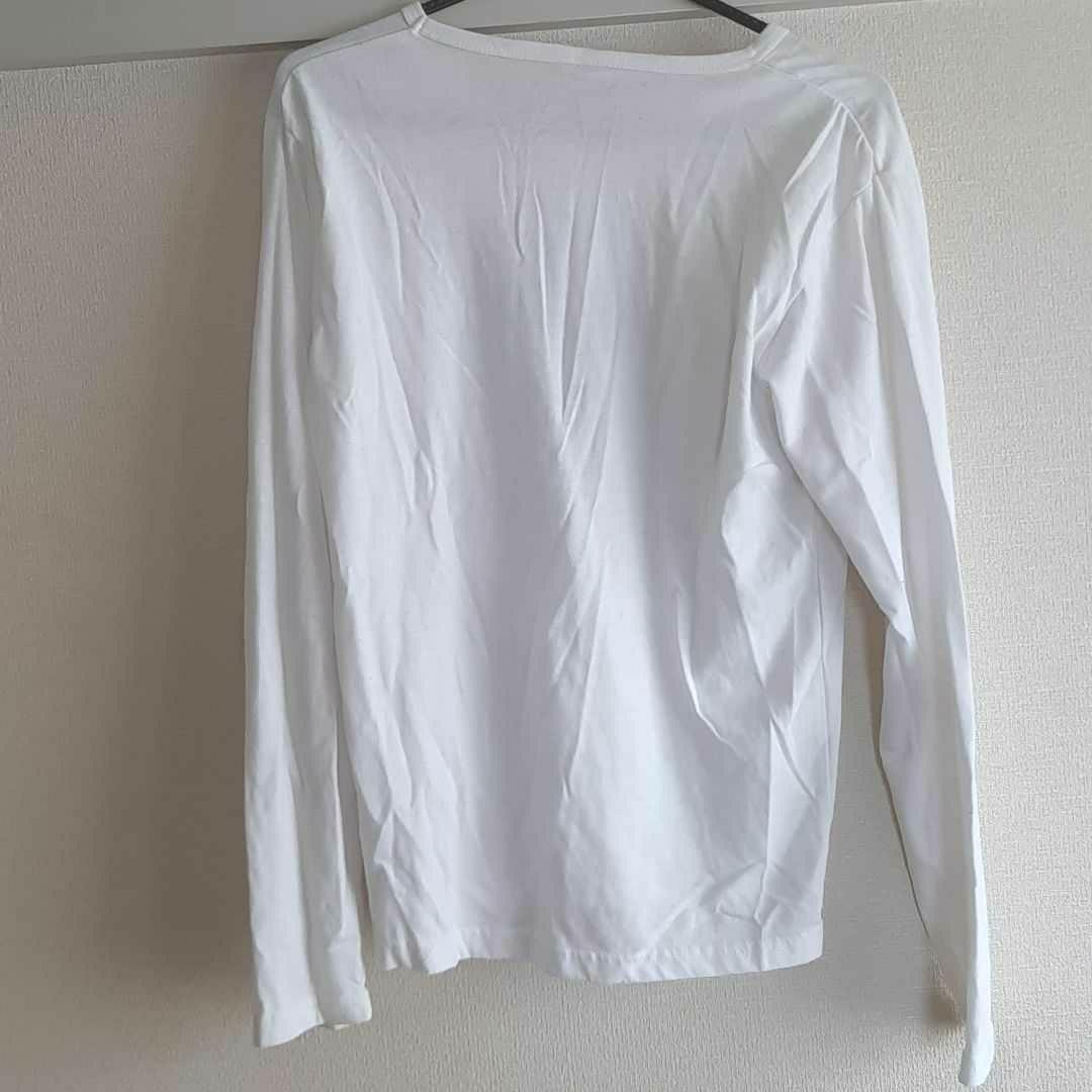 長袖 ロンT 白 ホワイト Tシャツ カットソー