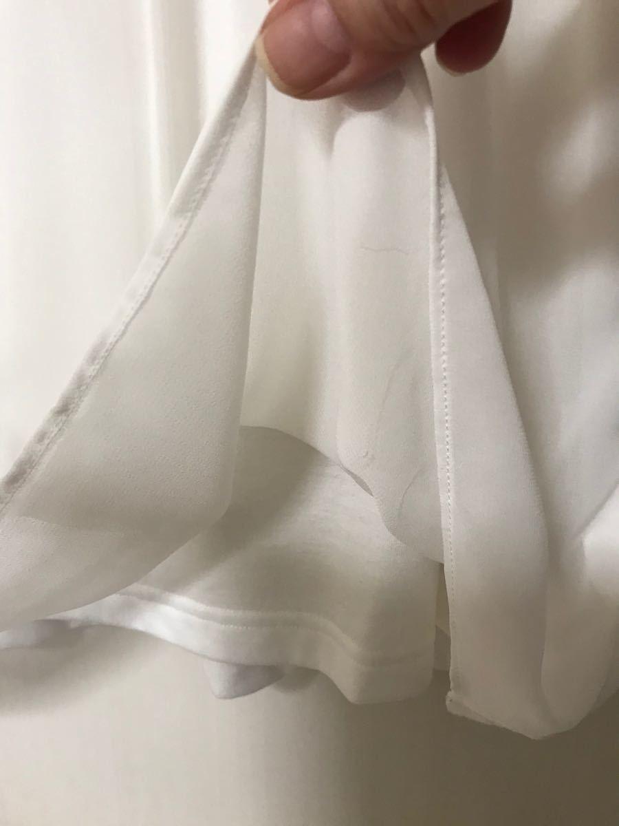 コムサイズム カットソー トップスブラウス 【L】白★美品 売り切り価格