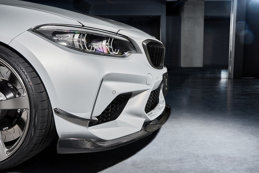 3D Design 3Dデザイン BMW F87 M2 Competition フロントリップスポイラーセット カーボン(インフュージョン)_画像2
