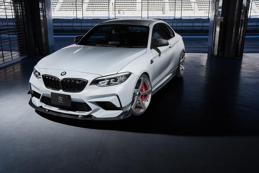 3D Design 3Dデザイン BMW F87 M2 Competition フロントリップスポイラーセット カーボン(インフュージョン)_画像3