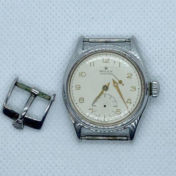 1円~ 超希少 ROLEX ロレックス OYSTER オイスター Ref.4444 スモセコ 手巻き メンズ腕時計 アンティーク ヴィテージ ジャンク品