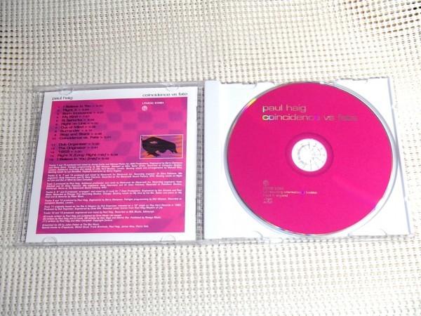 Paul Haig ポール ヘイグ Coincidence vs Fate / LTM / JOSEF K フロントマンソロ/ Dub Organiser 名義の曲も収録 / UK ハウス 電子POPS