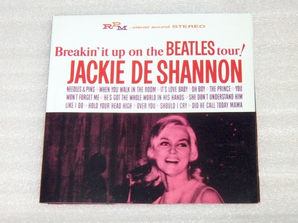 廃盤 Jackie DeShannon ジャッキー デ シャノン Breakin' It Up On The Beatles Tour!/ RPM /8曲追加盤 60s US SSW/ Randy Newman 作曲参加