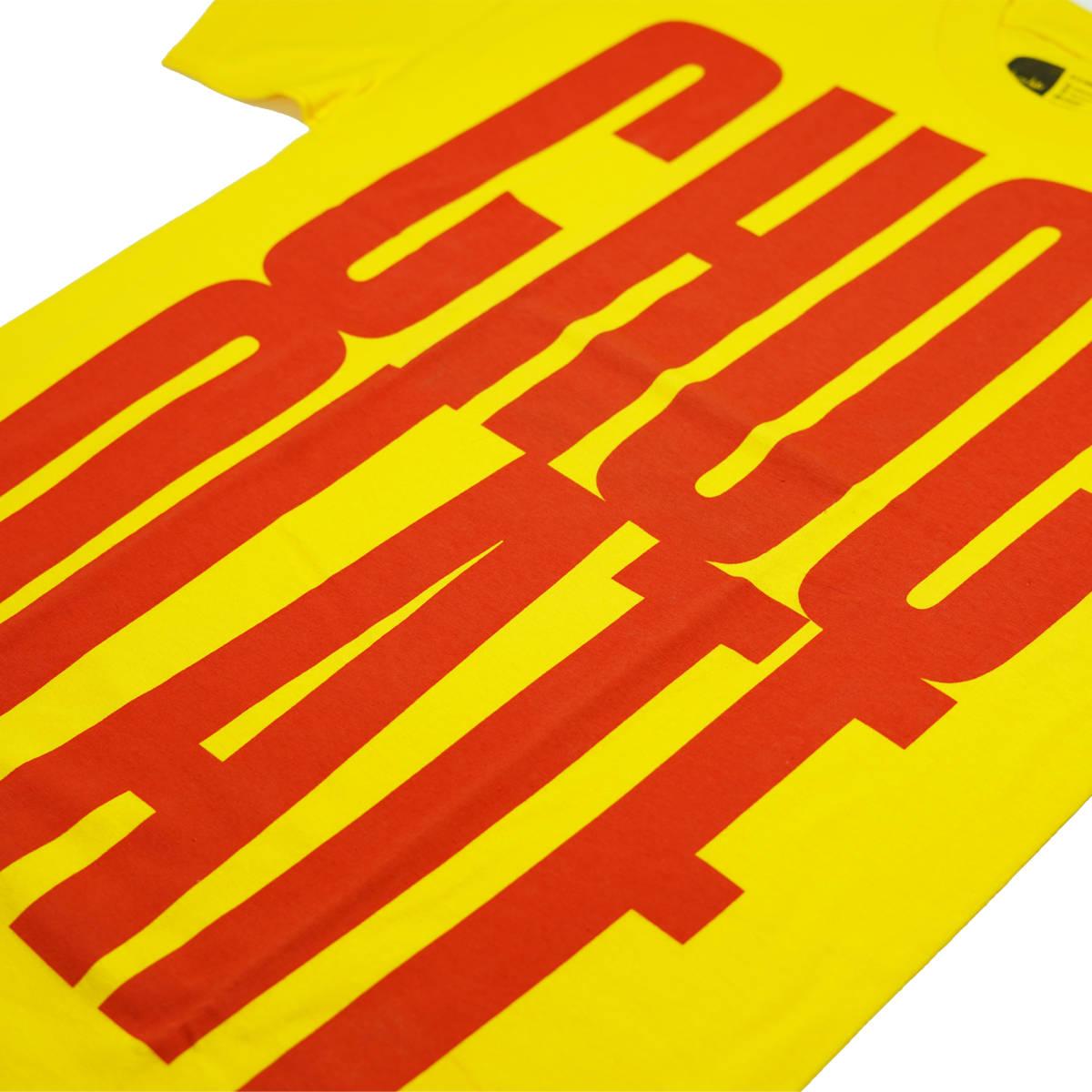 新品 CHOCOLATE BIG LOGO TEE/YELLOW M チョコレート スケートボード ビッグロゴ メンズ Tシャツ 半袖 イエロー