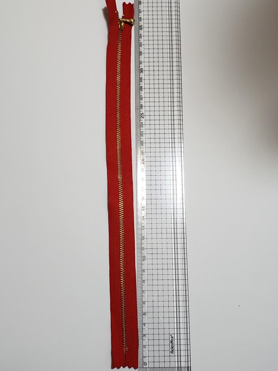 ファスナー 赤 10本
