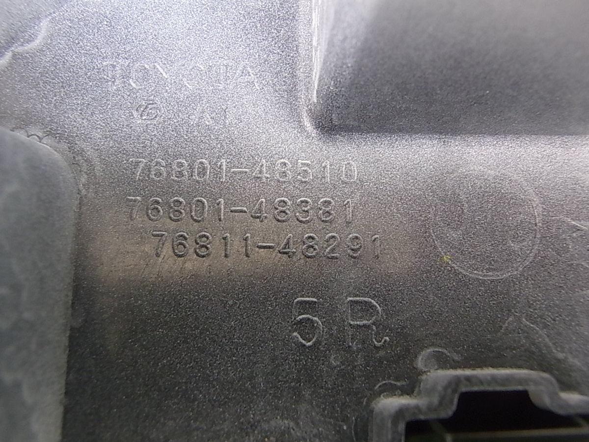 未使用品 保管品 TOYOTA 60系 ハリアー 後期 純正 リアガーニッシュ リアフィニッシャー 070 ホワイトパール 76801-48510_画像10