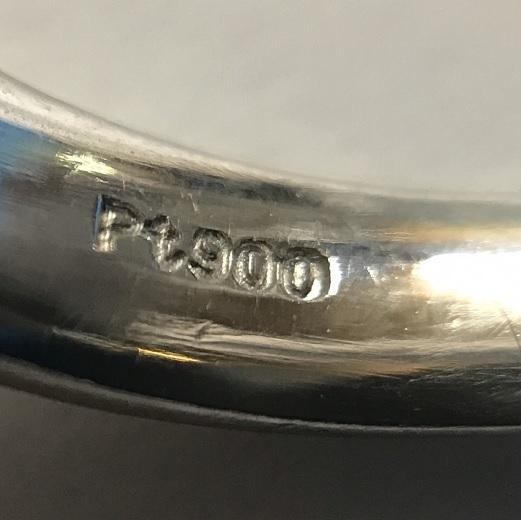 Pt900 プラチナ アメジスト 9.4g リング 12号_画像5