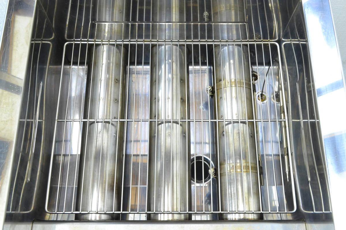 g735■コメットカトウ■1槽ガスフライヤー 都市ガス■CF2-GA18-L16■2018年製■外寸 約幅450×奥行き600×高さ800mm(全高 1125mm)_画像7